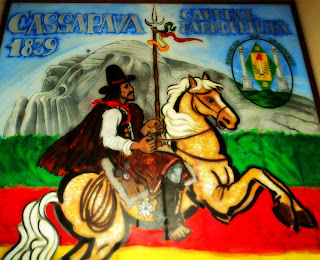 Pintura na Casa de Cultura de Caçapava do Sul