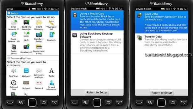 Cara Memindahkan Data dari BlackBerry Lawas ke Z10
