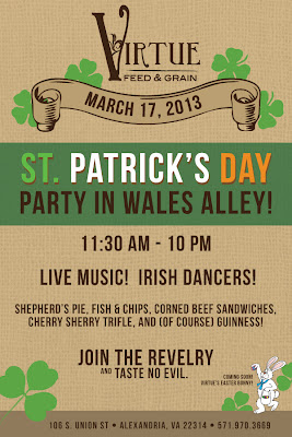 St. Patrick's Day Party in Wales Alley at Virtue Feed & Grain