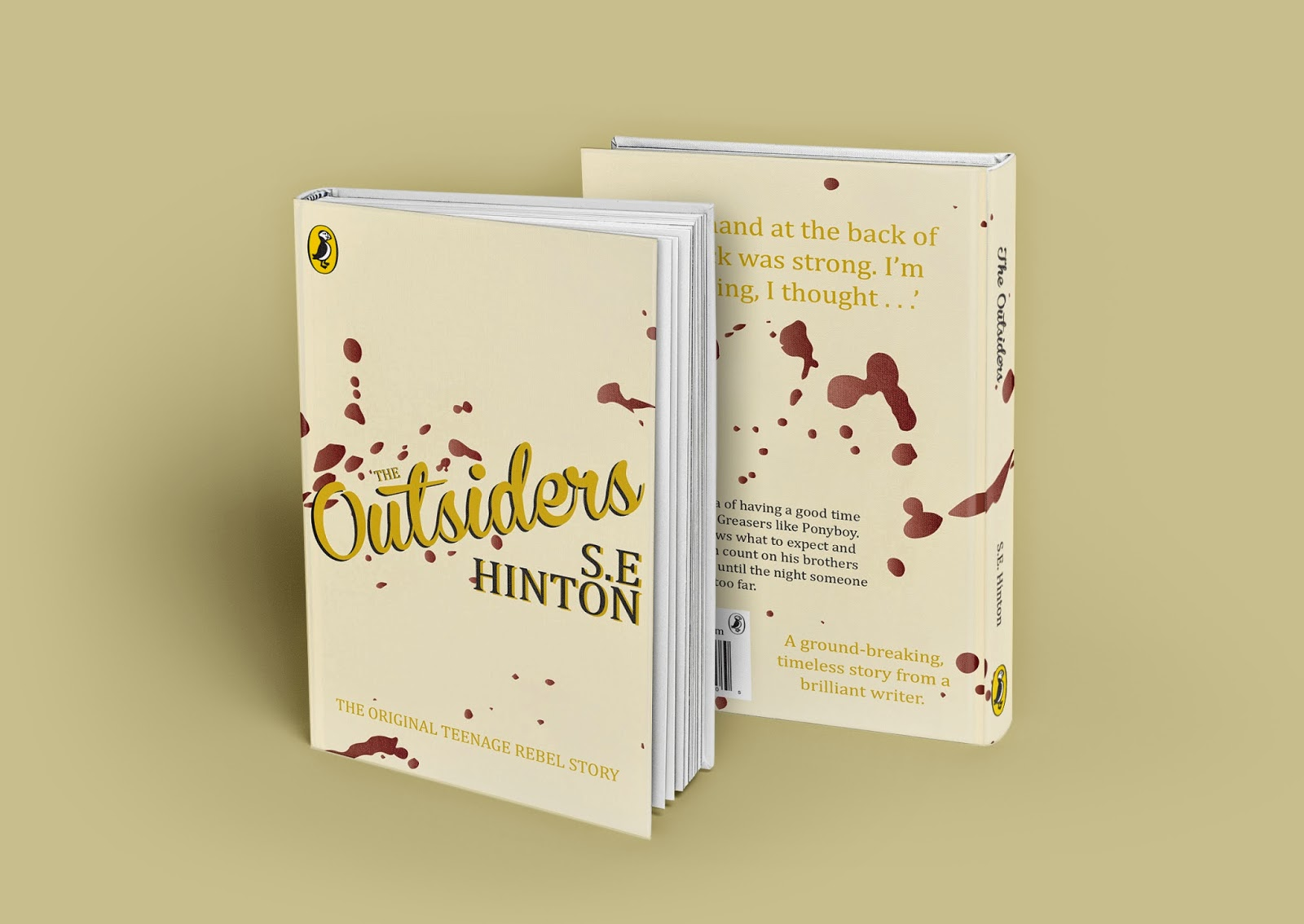 The Outsiders Book Cover Ideas : Design practice ougd the outsiders book cover