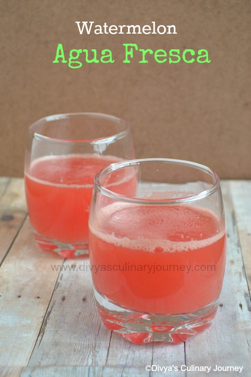 Divya's culinary journey: Watermelon Agua Fresca ...