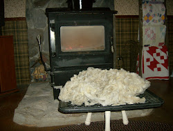 Wool drying by the fire