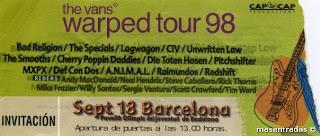 entrada de concierto warped tour