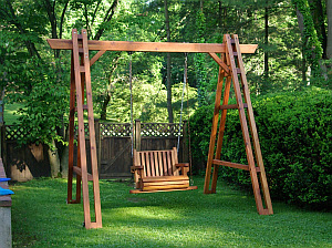 Multinotas sillones columpio de madera terrazas - Sillon columpio terraza ...