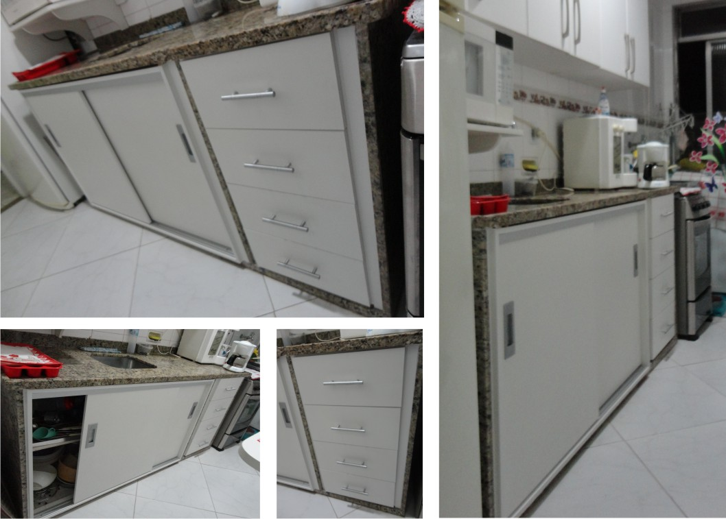Armario Em Baixo Da Pia : Alain marcenaria fechamento em baixo da pia com portas de