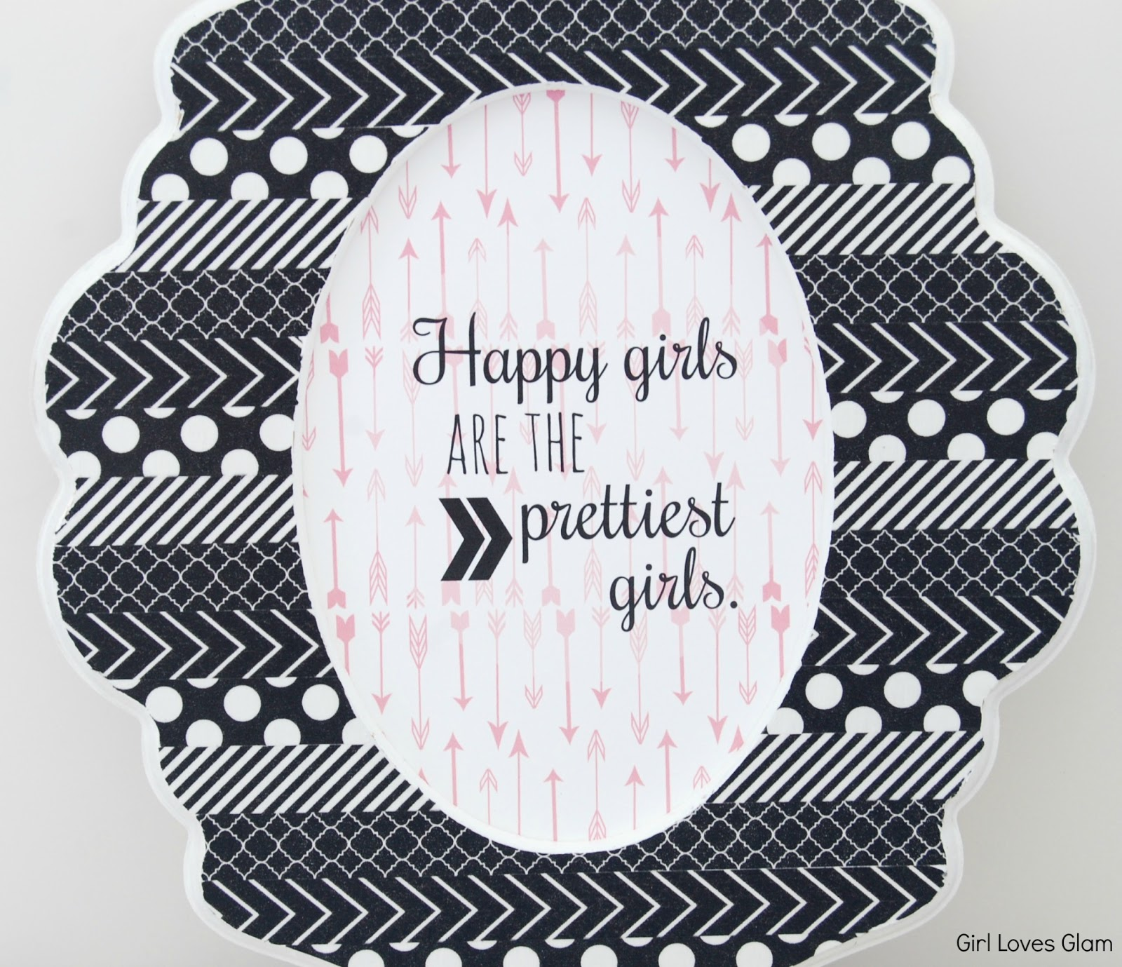 Love Quote Picture Frames Diy Washi Tape Curvy Oval Frame And Audrey Hepburn Free Printable