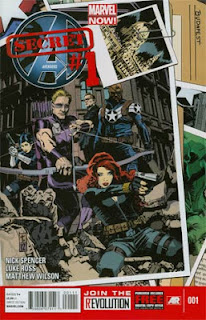 Comic cover showing Hawkeye, Black Widow, Nick Fury Jr. and Maria Hill