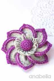 Belinda crochet brooch by Anabelia