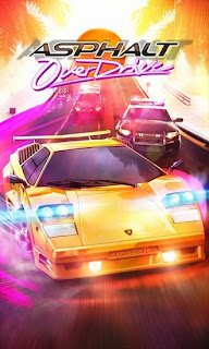 Screenshots of the Asphalt: Overdrive for Android tablet, phone.