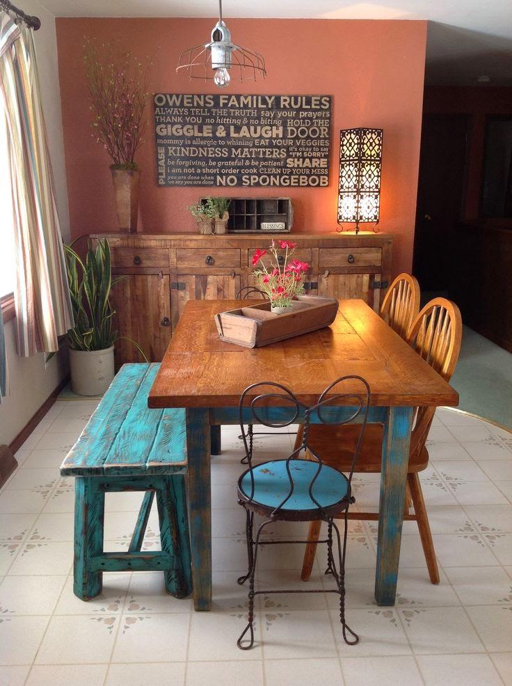 Mandarina mood banco para el comedor for Comedor redondo vintage