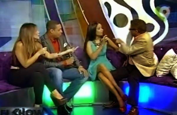Se arma lio con presentadores Iván Ruiz y Massiel Taveras en pleno Show del Mediodía
