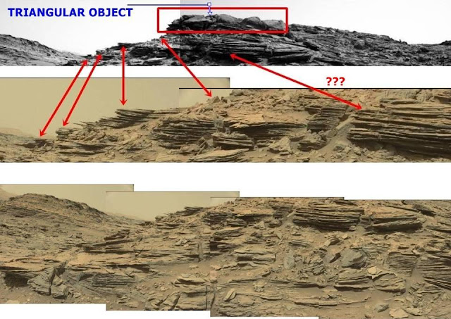 Triangular Anomaly between rocks on top of a mountain – Curiosity Mars Rover Mars%2Bcuriosity%2Bnasa%2Bufo%2Banomaly%2Bstructure%2B%25281%2529