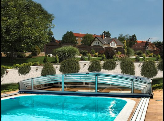 Cubiertas de piscinas cubiertas bajas y altas para - Piscinas baratas madrid ...
