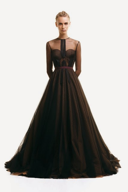 ziad ghanem black evening dress  fall winter 2014-15 collection
