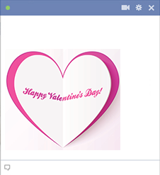 Happy Valentine's Day Facebook Icon