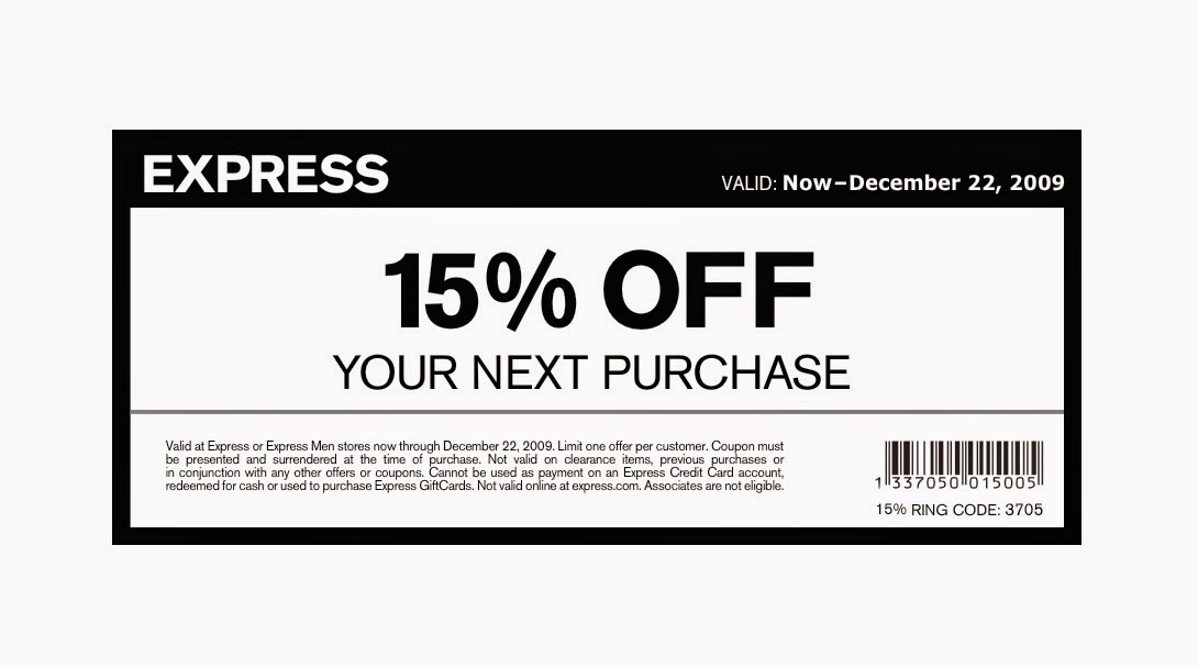 Express coupons printable