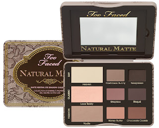 Too Faced Natural Matte Eyeshadow Collection