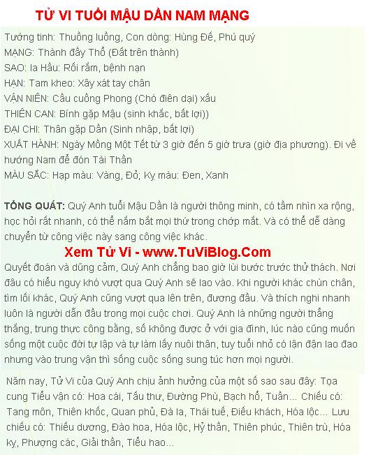 Tu Vi tuoi Mau Dan 1998 Nam Mang