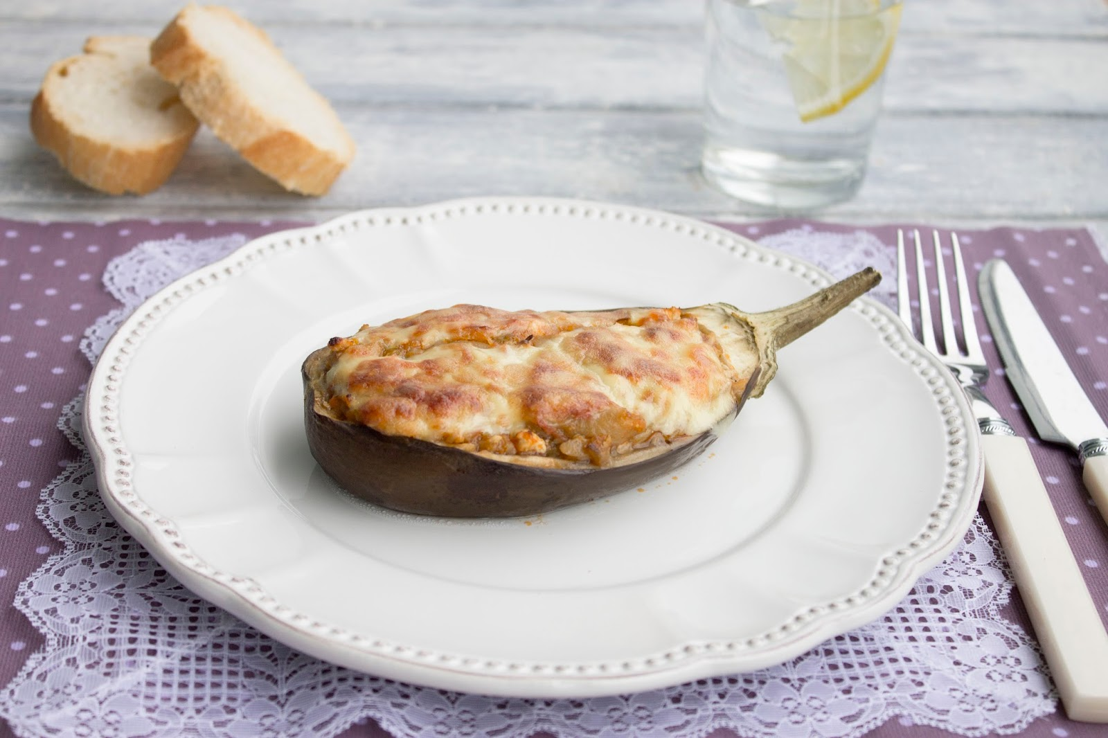Cocina con angi berenjenas rellenas de pollo for Cocina berenjenas rellenas