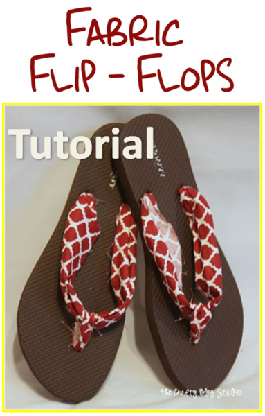 Tutorial for Fabric Flip Flops @ The Crafty Blog Stalker
