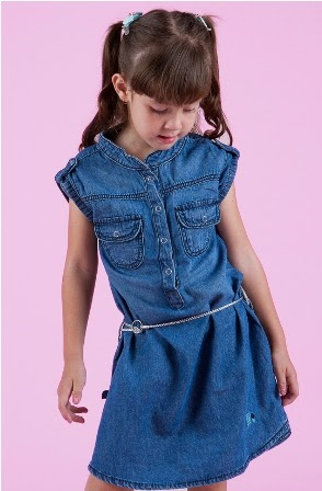 Dress denim anak