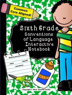 http://www.teacherspayteachers.com/Product/Sixth-Grade-Language-Conventions-Interactive-Notebook-Common-Core-Aligned-1346326