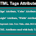 HTML Basics-General HTML Attributes and Attributes used with Body Tag
