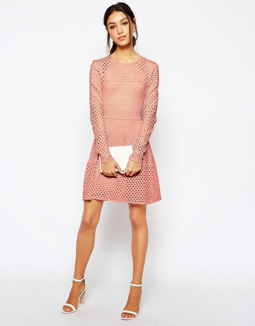 BCBG nude dress, BCBG peach dress,