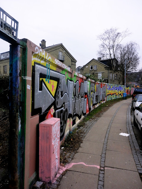 Graffiti mural artwork around Christiania, Copenhagen, Denmark