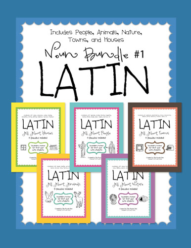 Latin Language Puzzles - Noun Bundle #1