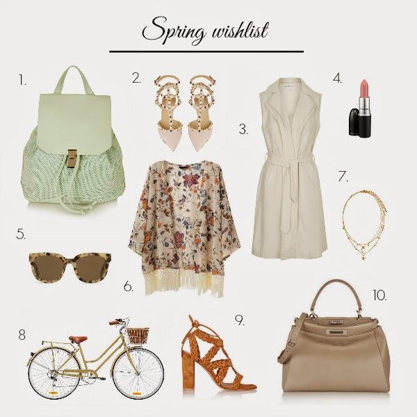 spring wishlist, fashion blogger, valentino, rossi, pumps, kimono, trends