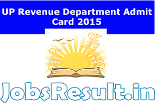 UP Revenue Department Admit Card 2015