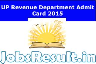 UP Revenue Department Admit Card 2015