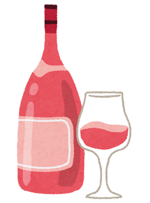 ワインのイラスト「ロゼワイン」