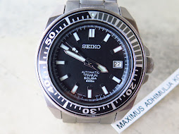 SEIKO DIVER SAMURAI TITANIUM BLACK DIAL - SEIKO DIVER SBDA001-AUTOMATIC 7S25-MINTS CONDITION-RARE