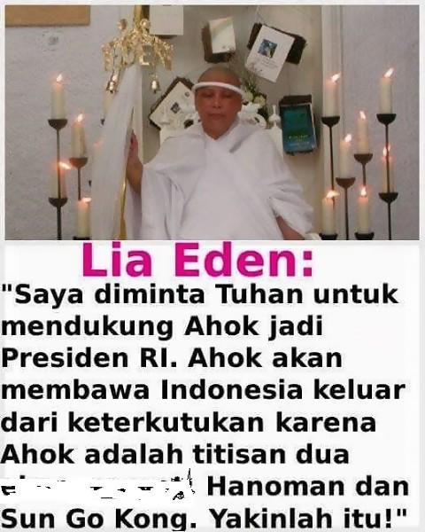 Wah Parah!! Lia Eden Diminta Tuhan Untuk Dukung Ahok Jadi Presiden