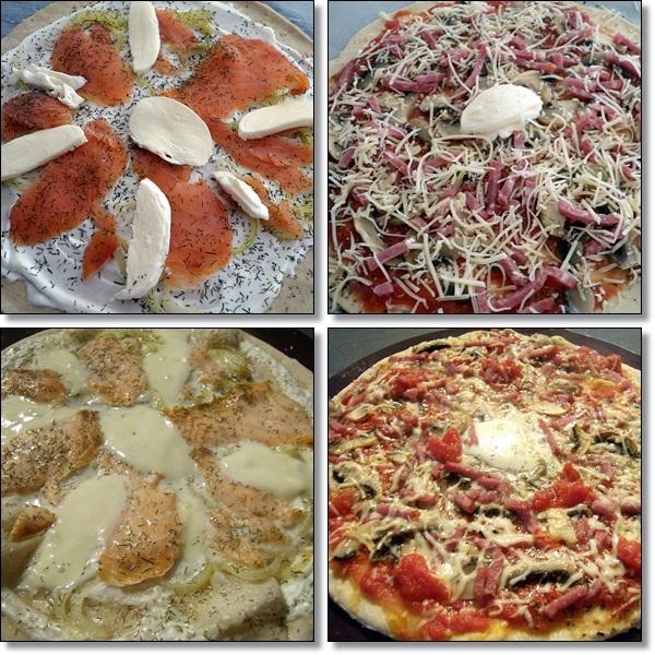 dey cuisine pizza saumon fum cr me l 39 aneth et pizza champignons lardons. Black Bedroom Furniture Sets. Home Design Ideas