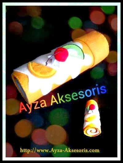 Tempat Pensil Roll Cake - Ayza Aksesoris