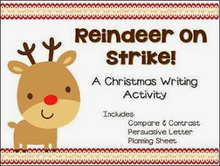 http://www.teacherspayteachers.com/Product/Reindeer-On-Strike-A-Christmas-Writing-Activity-947149
