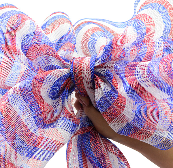 Deco Mesh, Sinamay, How to, Tutorials, Patriotic, Red White Blue, Memorial Day, Patriotic Crafts