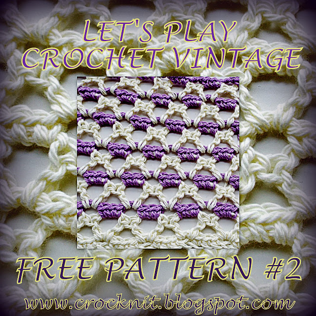 free crochet patterns, vintage, v-st, crazy vee