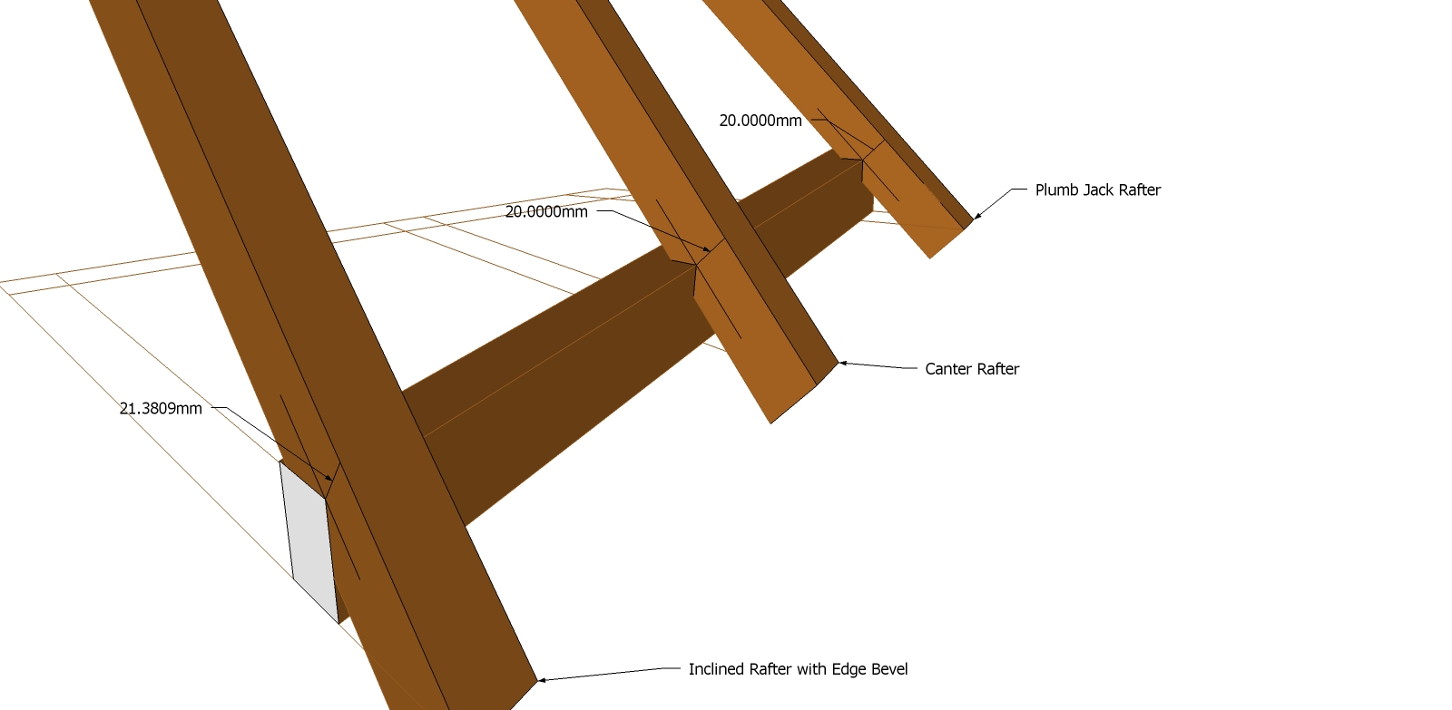 Roof Framing Geometry Rising Purlin With Rafter Seat Cuts