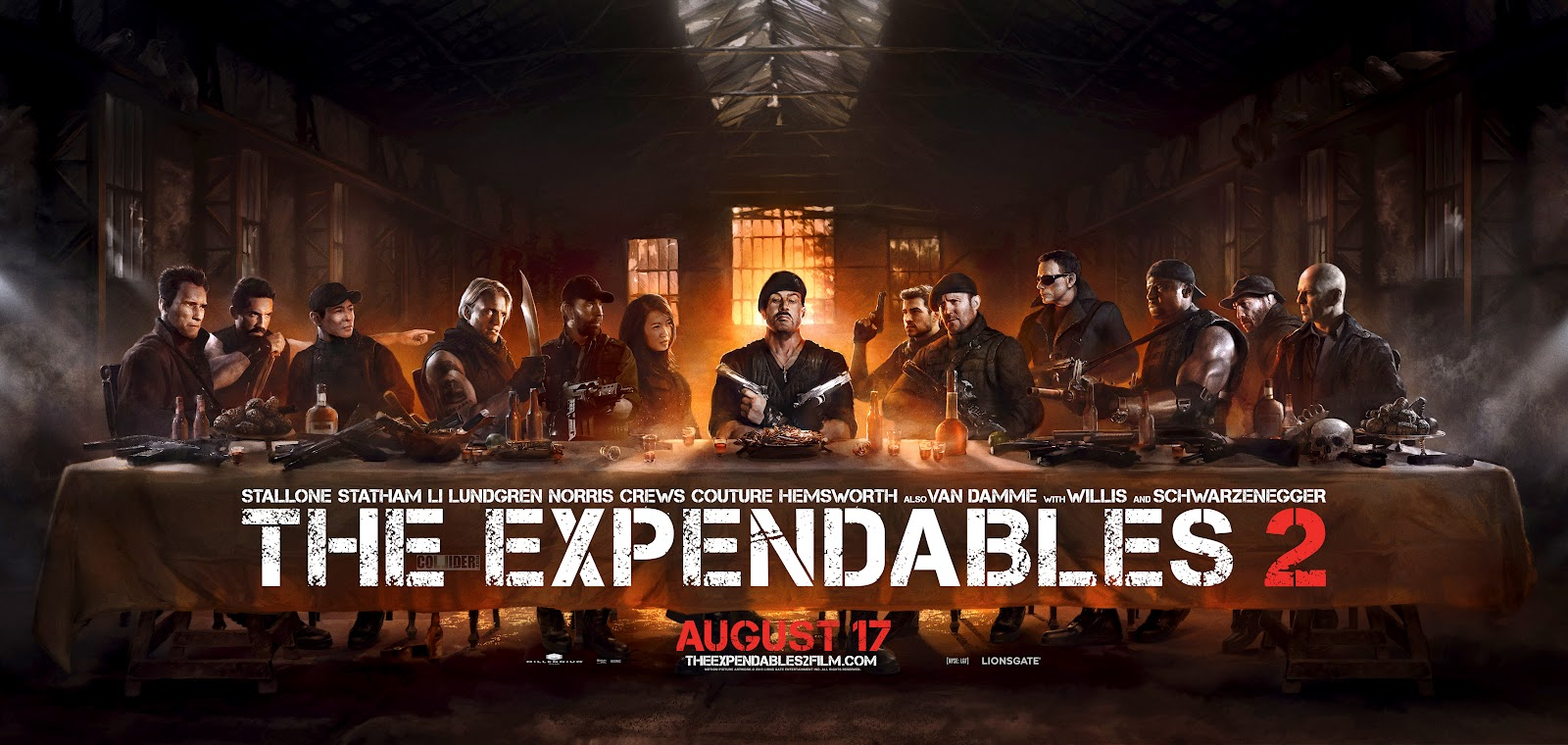 The Expendables 2 Poster Last Supper
