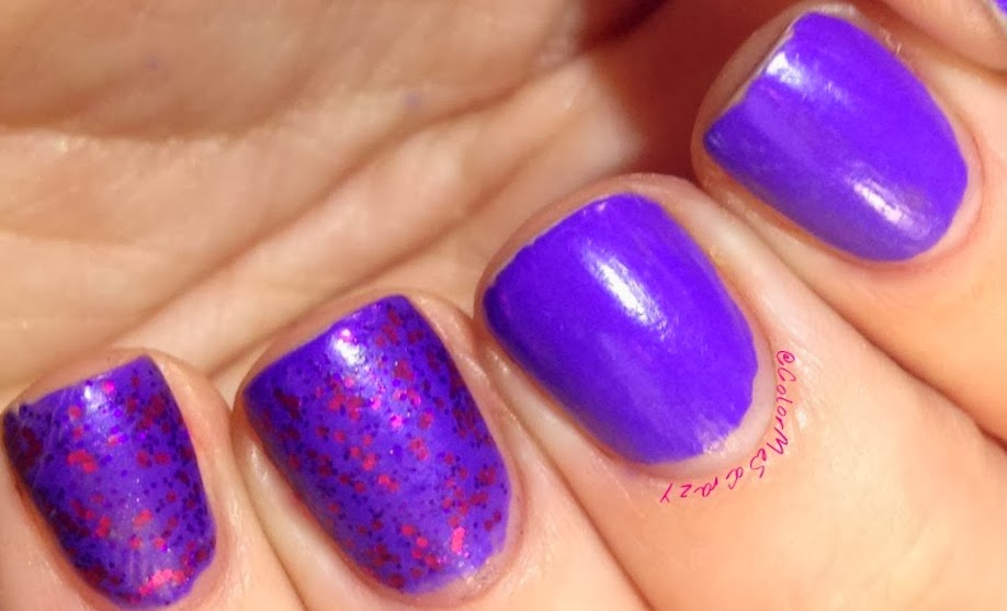 Funky Fingers Cheshire and Sinful Colors Star Dust for GOT Polish Challenge Purple