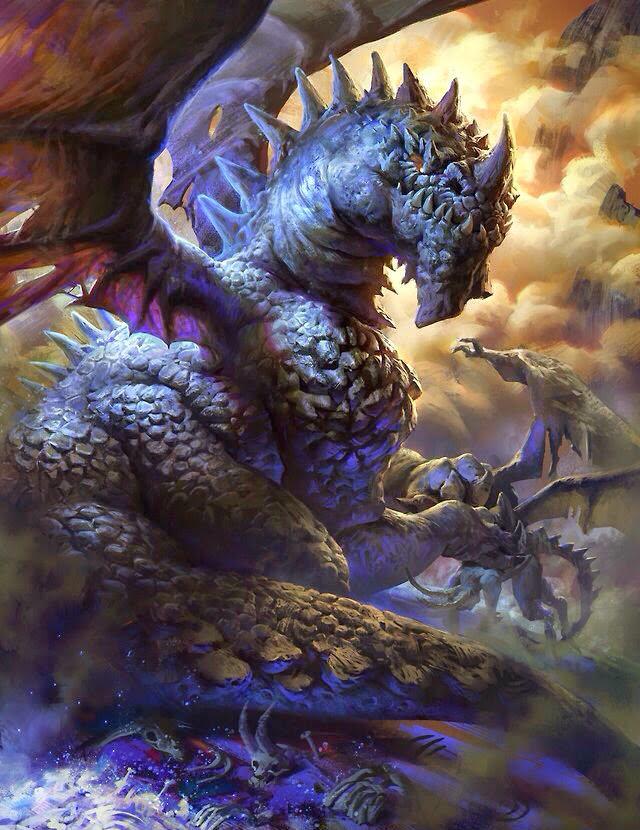 Evil eating Dragon