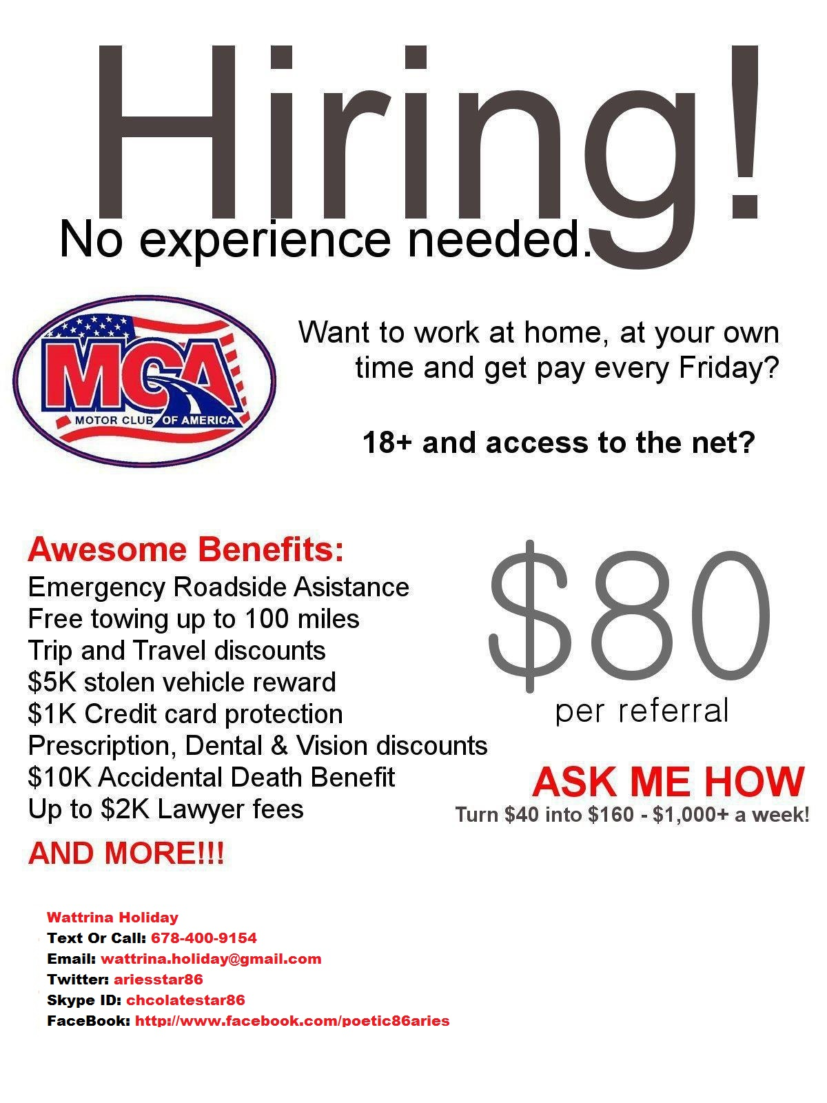 Making money from working at home feel free to ask any questions