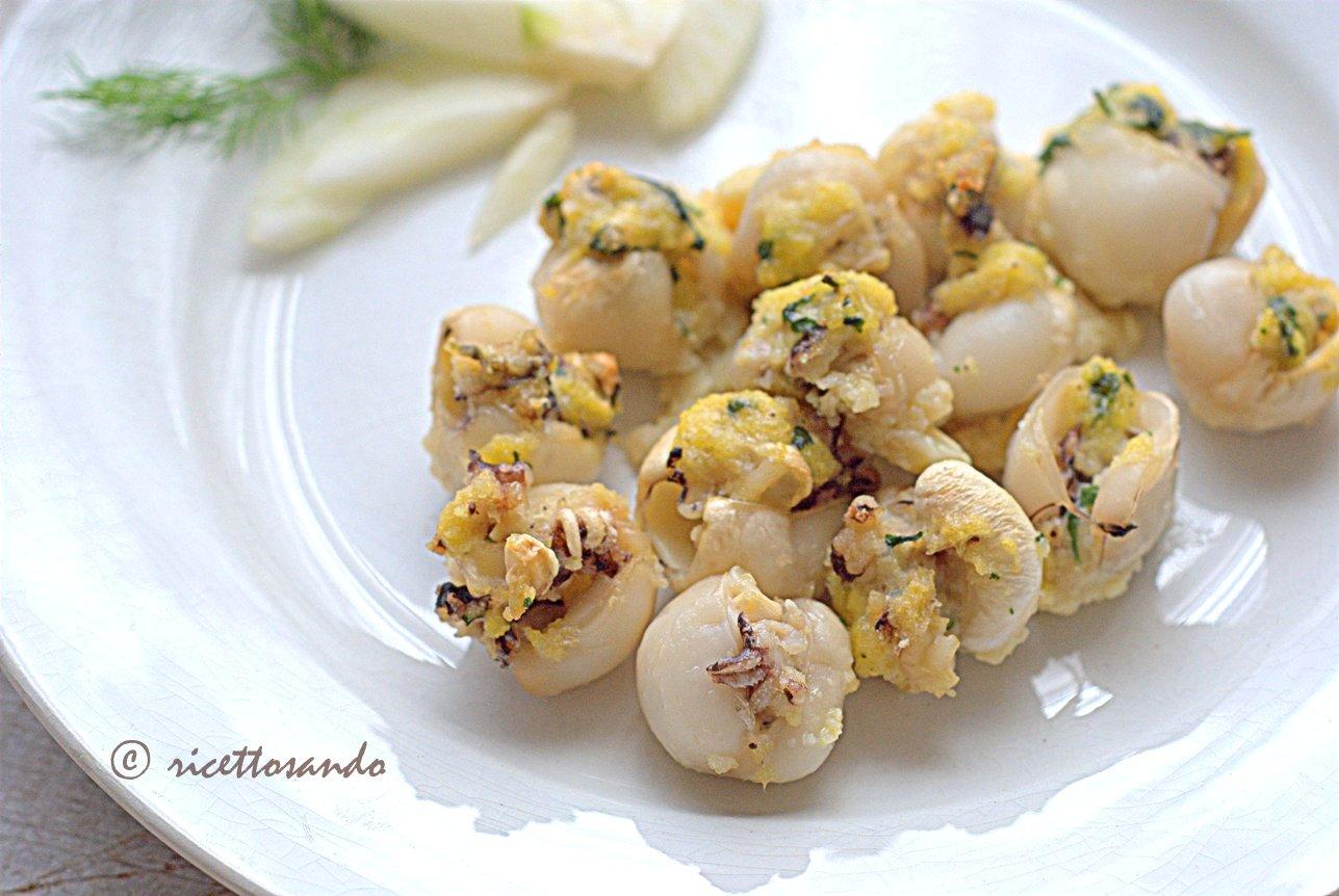 Seppioline ripiene al forno ricetta di pesce light