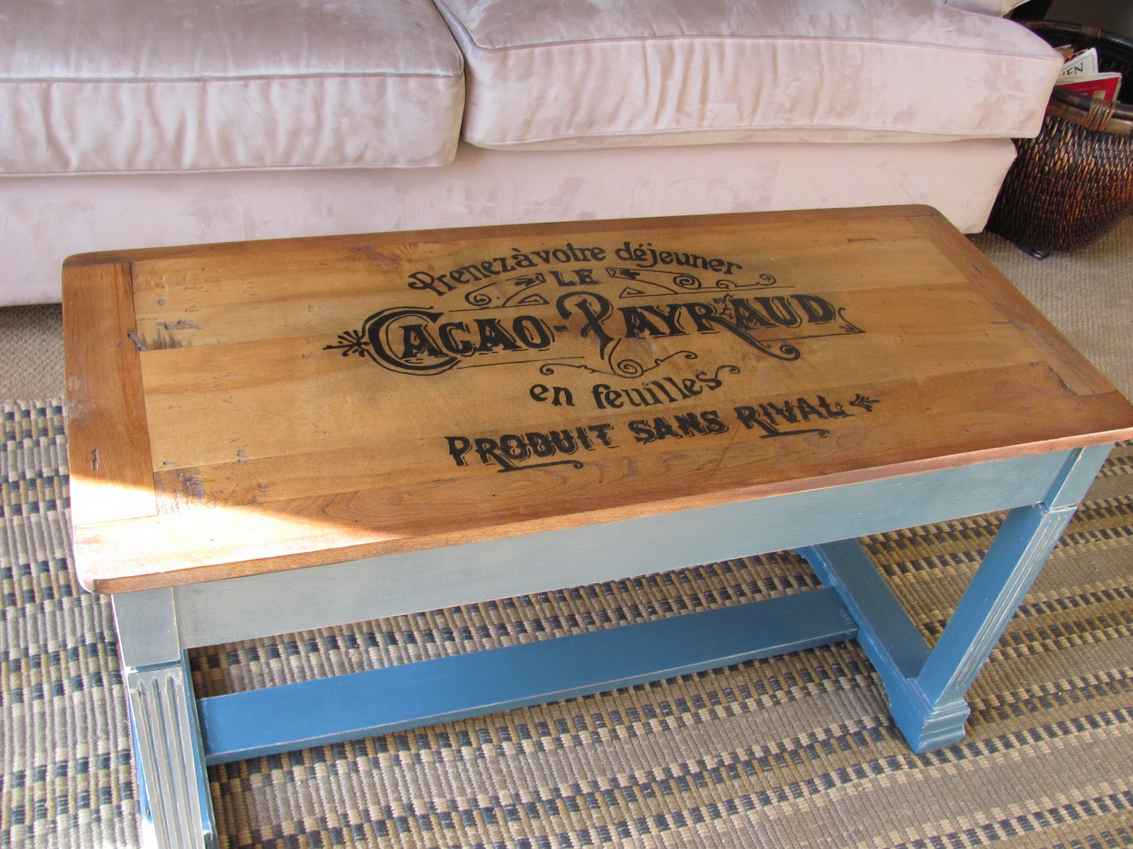 Header Piano Bench turned Coffee Table