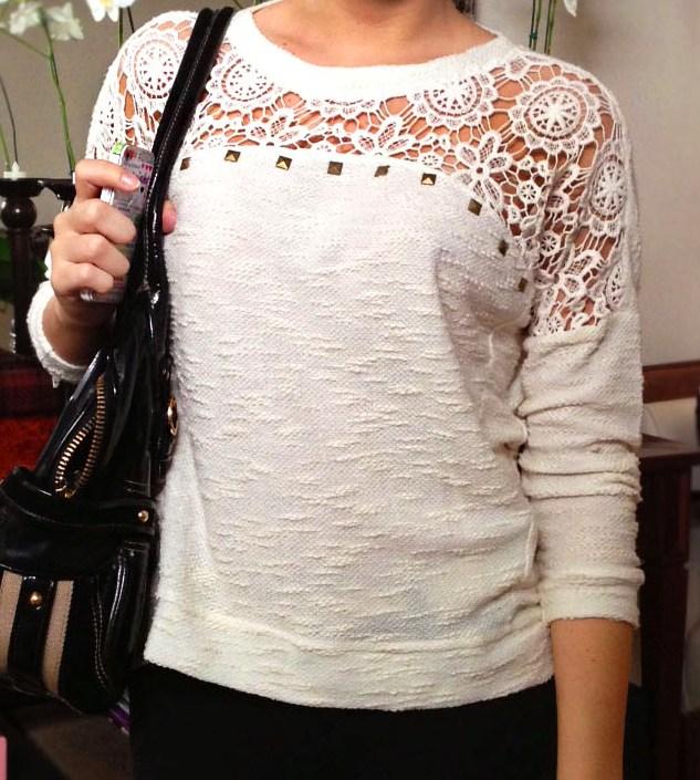 J marzola boutique blusa com renda vazada no decote for 31 twenty five boutique