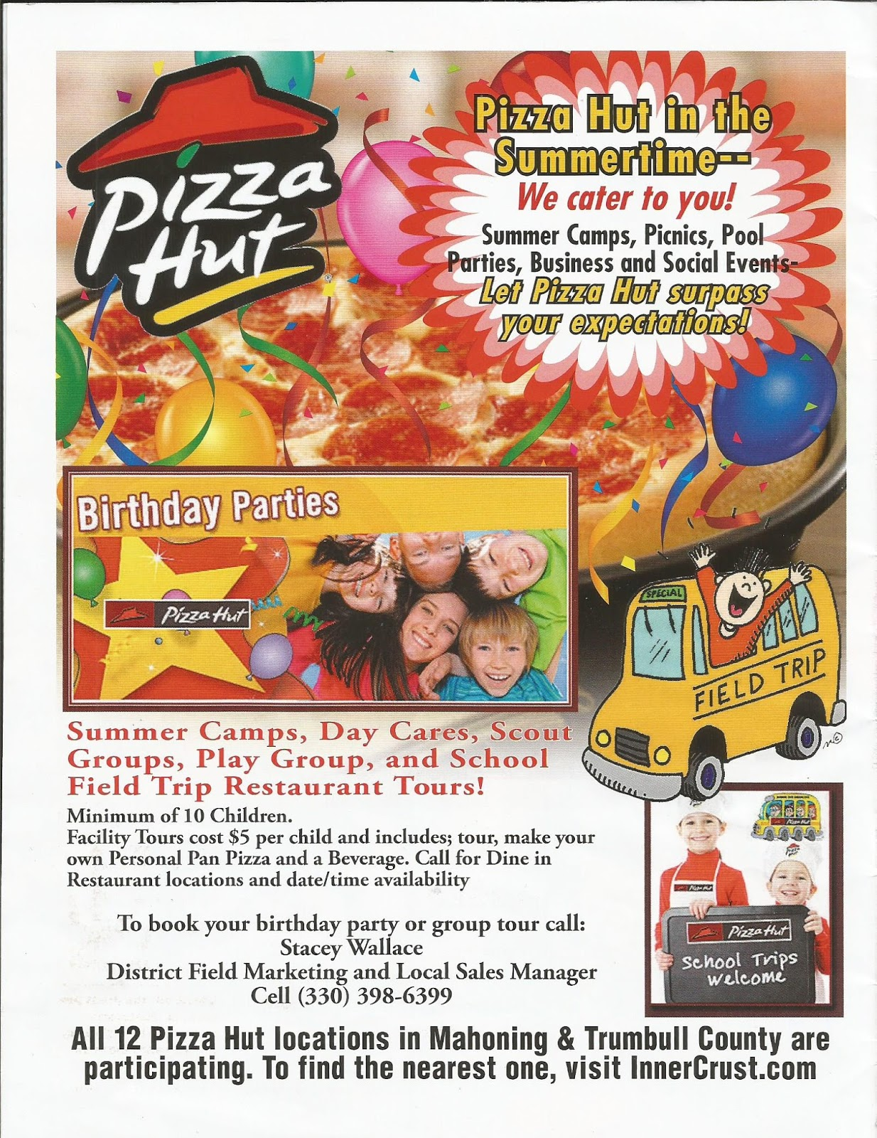 Kidding Around February - Childrens birthday parties pizza hut